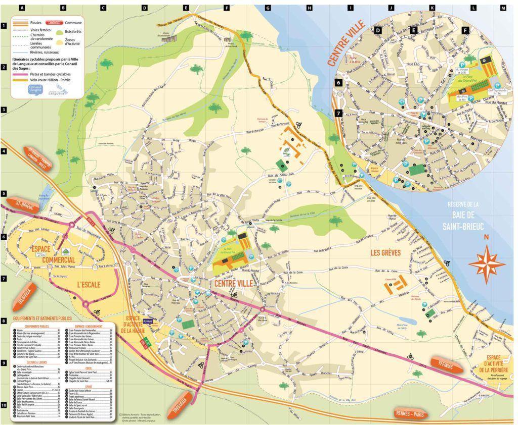 Plan de la ville de Langueux
